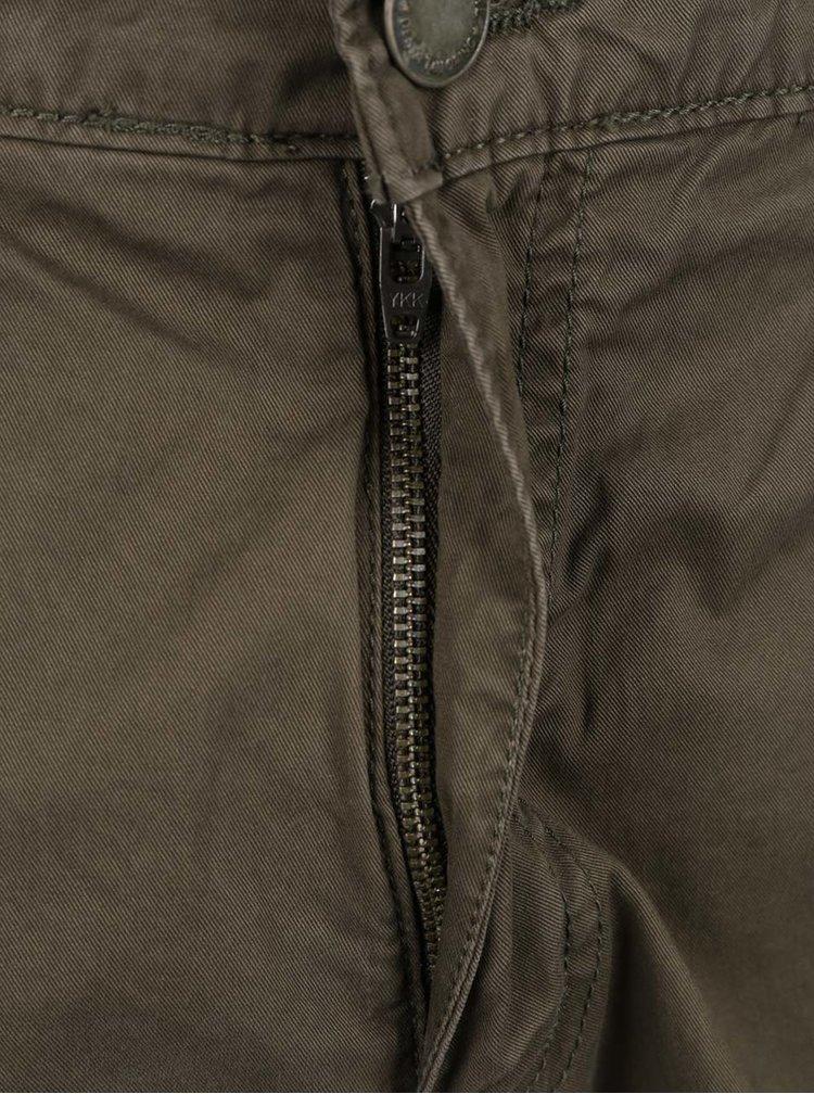 Khaki kraťasy s kapsami Shine Original