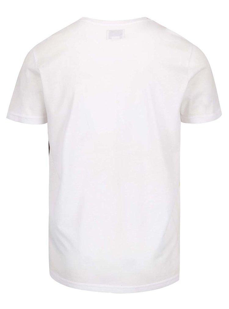 Oranžovo-bílé triko s potiskem palem Shine Original