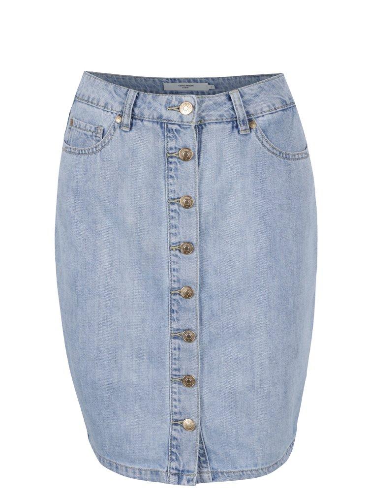 Světle modrá džínová sukně na knoflíky VERO MODA Brigail