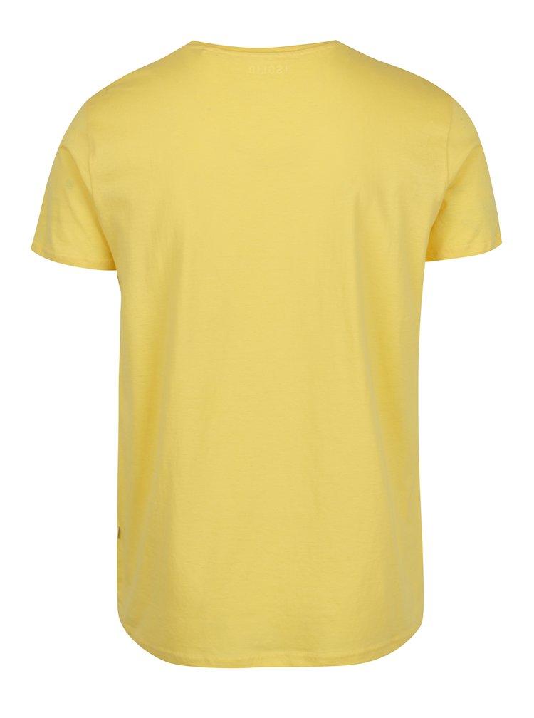 Žluté triko s potiskem a krátkým rukávem !Solid Hanlee
