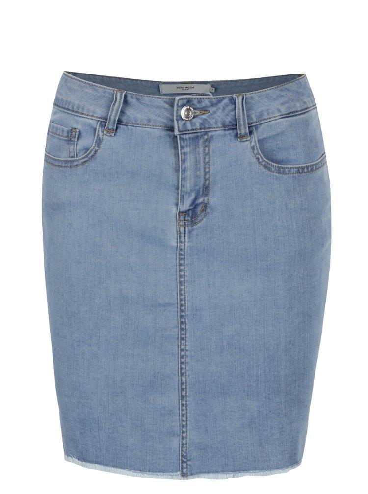 Světle modrá džínová sukně VERO MODA Beate