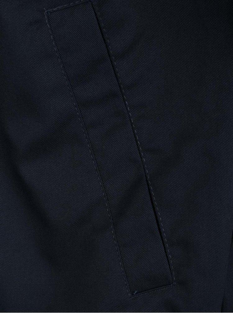 Jacheta bomber albastru inchis Shine Original cu guler mao