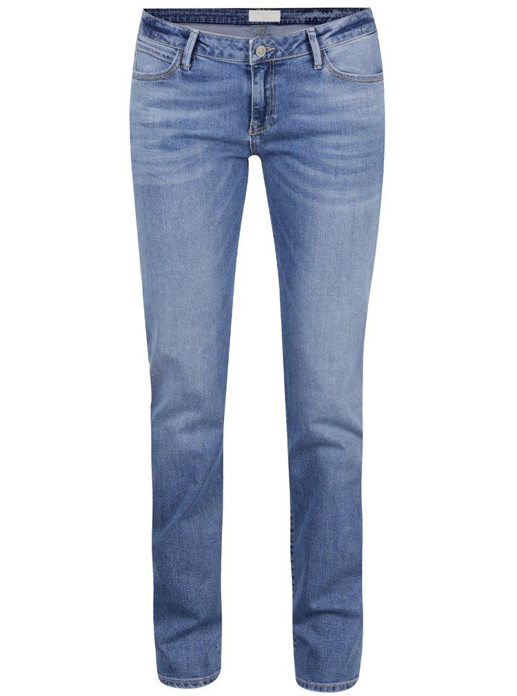 Blugi albastri straight fit Cross Jeans Elsa de dama