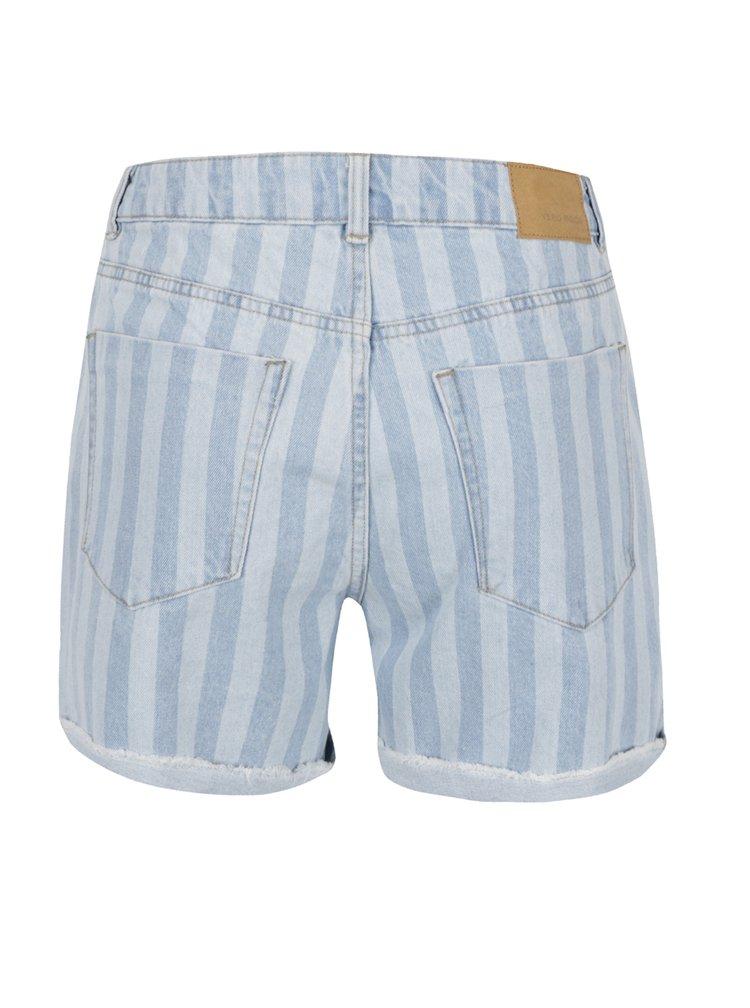 Pantaloni scurți albastru deschis VERO MODA Thirteen din denim