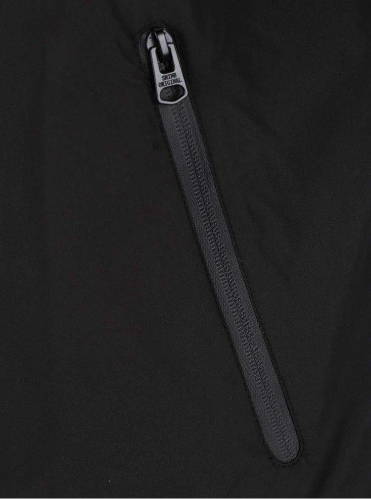 Černá bunda s kapucí Shine Original