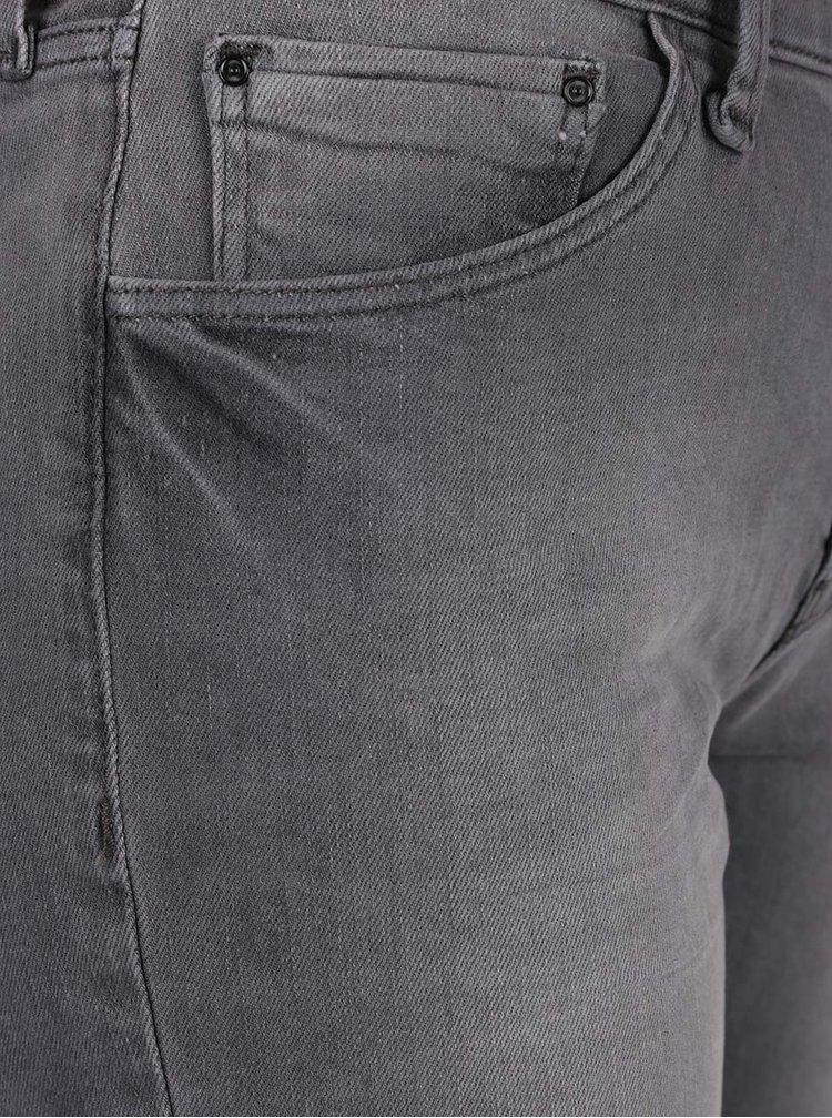 Blugi gri slim fit Cross Jeans Anya de dama