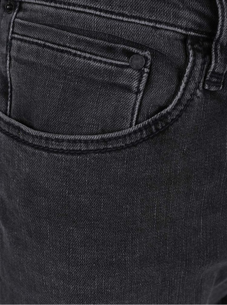 Blugi gri închis Cross Jeans Dylan cu croi drept