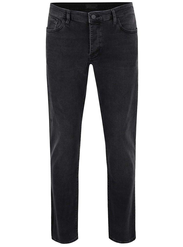Tmavě šedé pánské džíny Cross Jeans Dylan