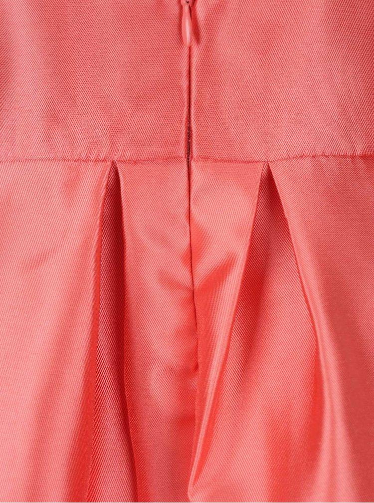 Korálové šaty v lesklém provedení VERO MODA Natty