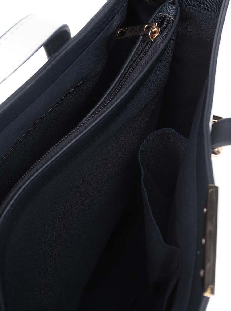 Krémová velká kabelka s detaily ve zlaté barvě Dorothy Perkins