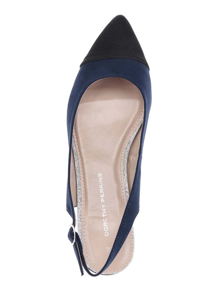 Sandale albastre Dorothy Perkins cu vârf alungit