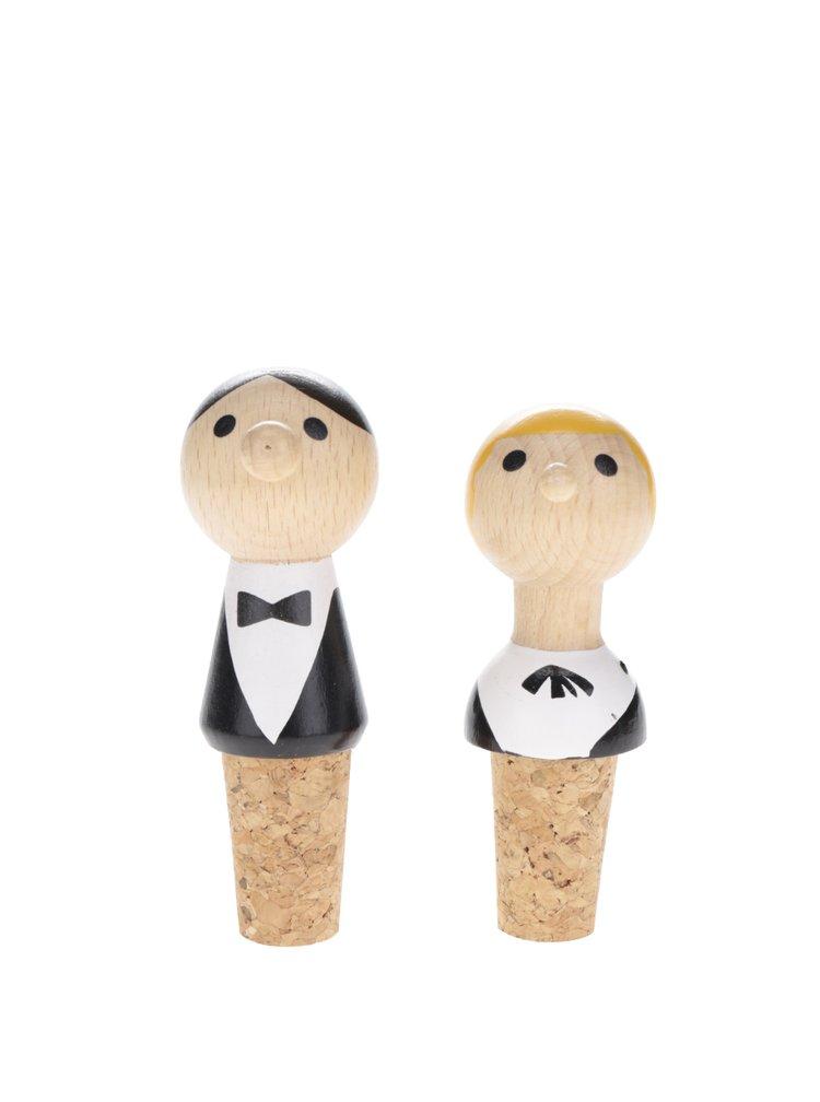 Zátka na víno ve tvaru muže a ženy Kikkerland
