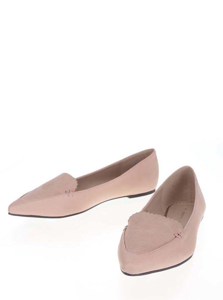 Balerini roz pal Dorothy Perkins cu vârf alungit