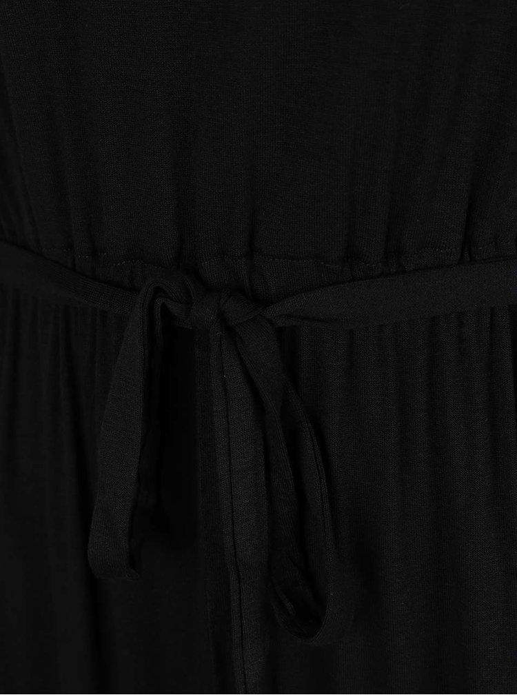 Černé maxišaty s detaily ve zlaté barvě Dorothy Perkins Petite