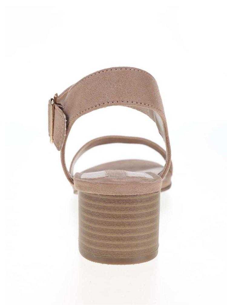 Hnědé sandálky v semišové úpravě Dorothy Perkins