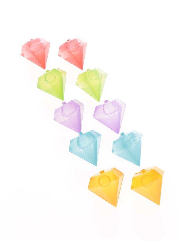 Set forme multicolore Kikkerland pentru gheață în formă de diamant