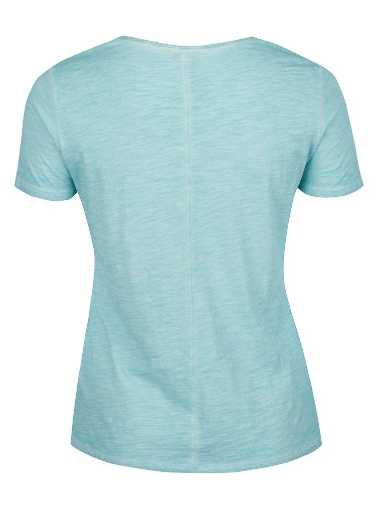 Modré žíhané tričko s krátkým rukávem Gina Laura