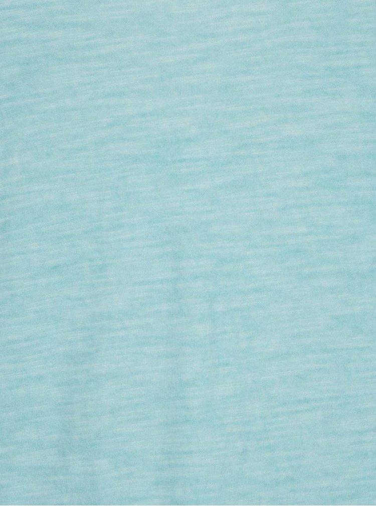Tricou albastru Gina Laura din bumbac