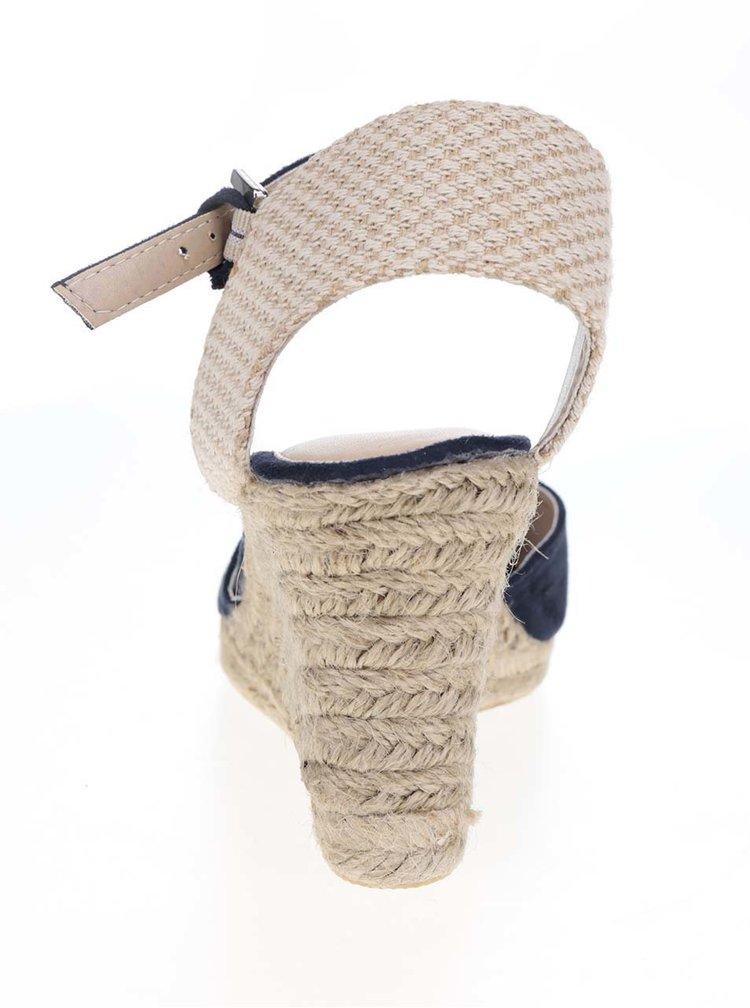 Krémovo-modré sandály na klínku Dorothy Perkins