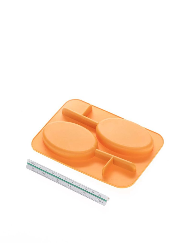 Formă portocalie pentru gheață Kikkerland