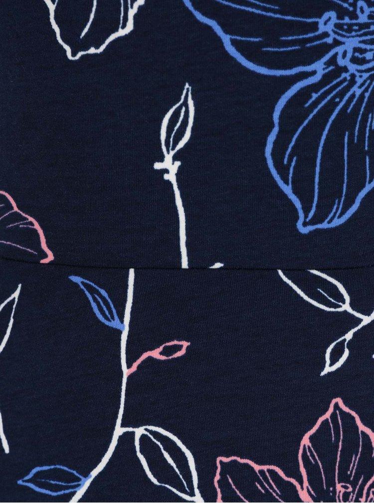 Tmavě modré květované šaty s odhalenými rameny Dorothy Perkins