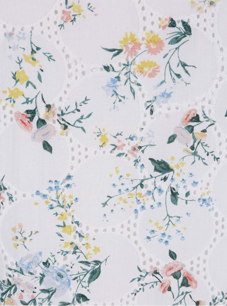 Bílé květované šaty s madeirou Dorothy Perkins