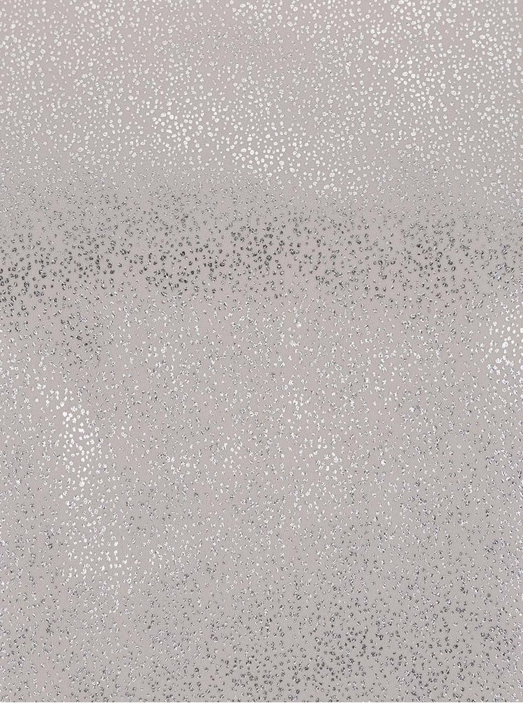 Krémová třpytivá halenka s odhalenými rameny Dorothy Perkins Petite