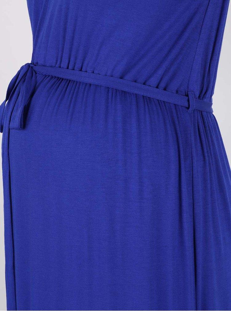 Modré těhotenské maxišaty Dorothy Perkins Maternity