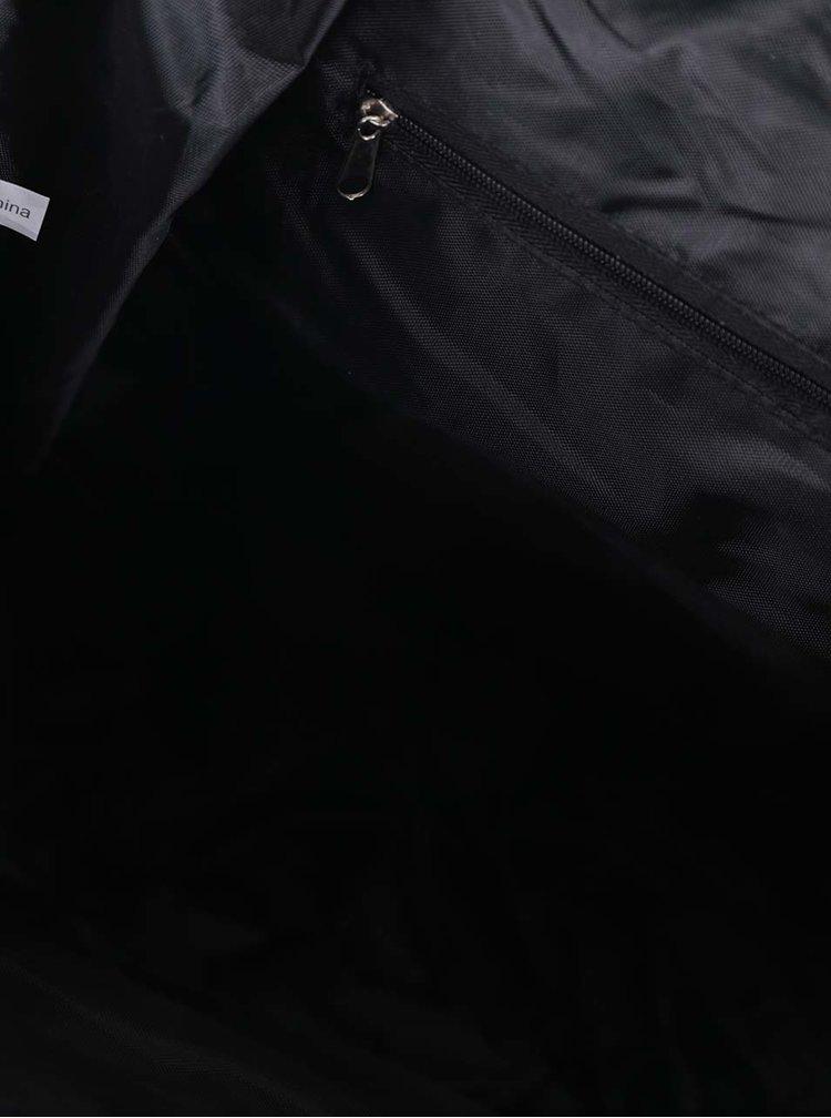 Černý dámský batoh s pásky ZOOT