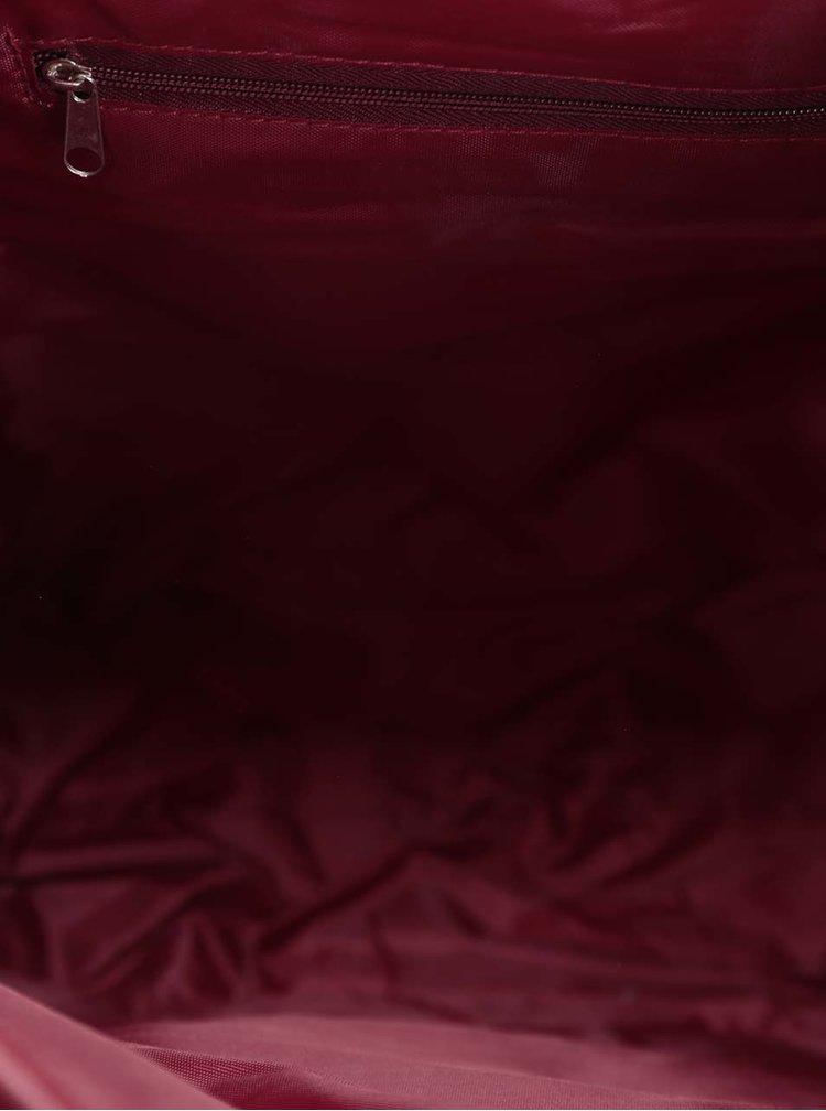 Vínový dámský batoh s pásky ZOOT