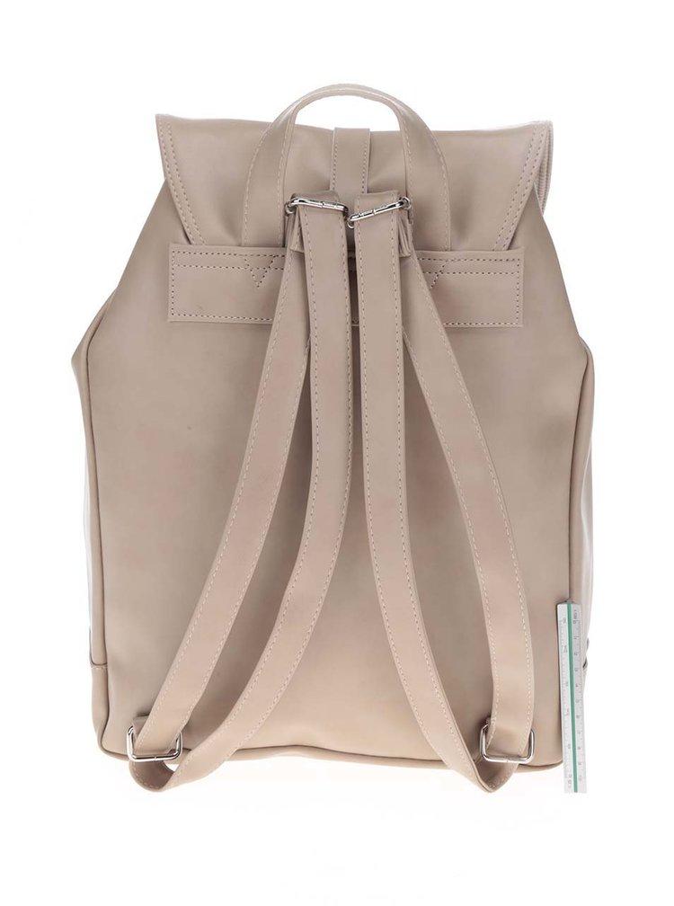 Béžový dámský batoh s pásky ZOOT