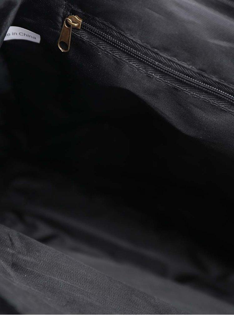 Rucsac negru din piele sintetica ZOOT  cu clapa