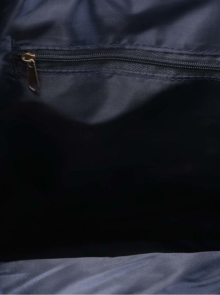 Rucsac bleumarin din piele sintetică ZOOT  cu clapă