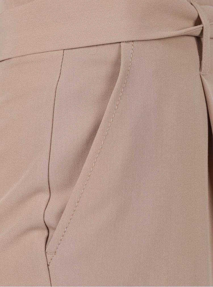 Pantaloni bej Dorothy Perkins Petit cu planglică în talie