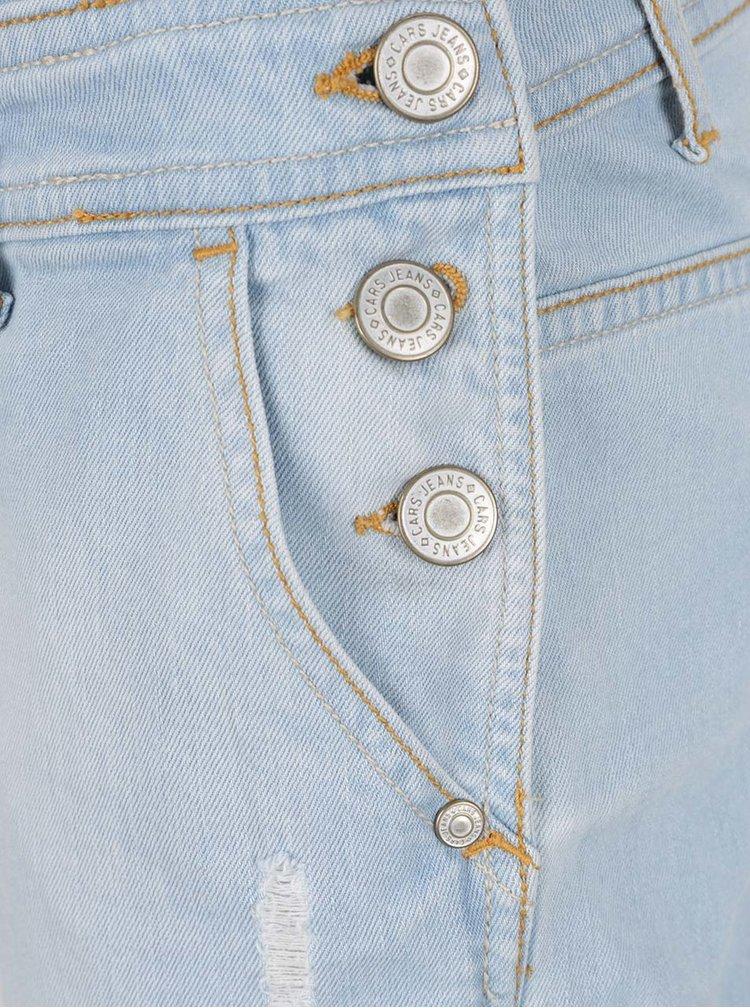 Světle modré džínové dámské kraťasy s laclem Cars Pippa