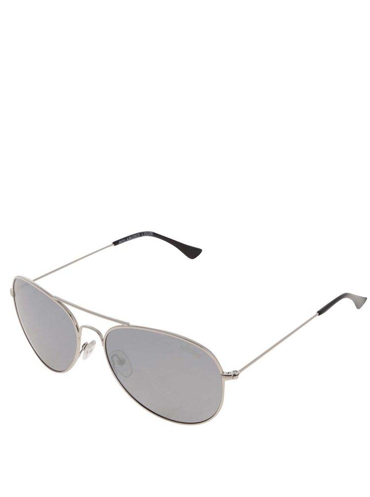 Ochelari de soare argintii Nectar Aviators cu logo pentru femei