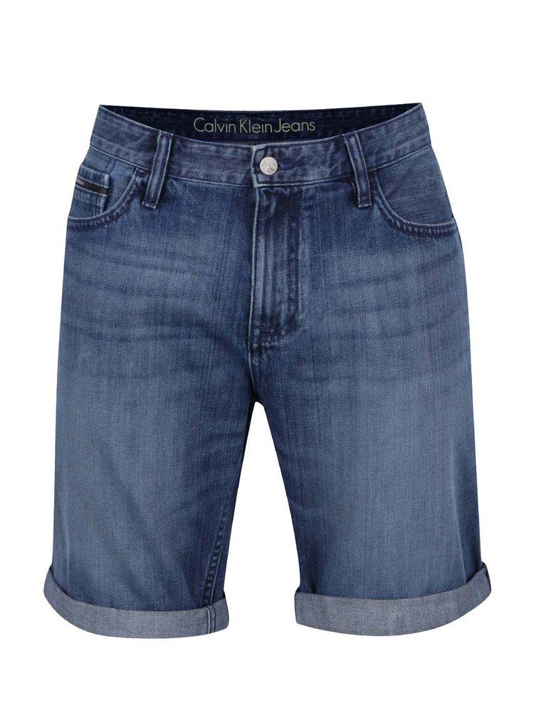 Modré pánské kraťasy Calvin Klein Jeans