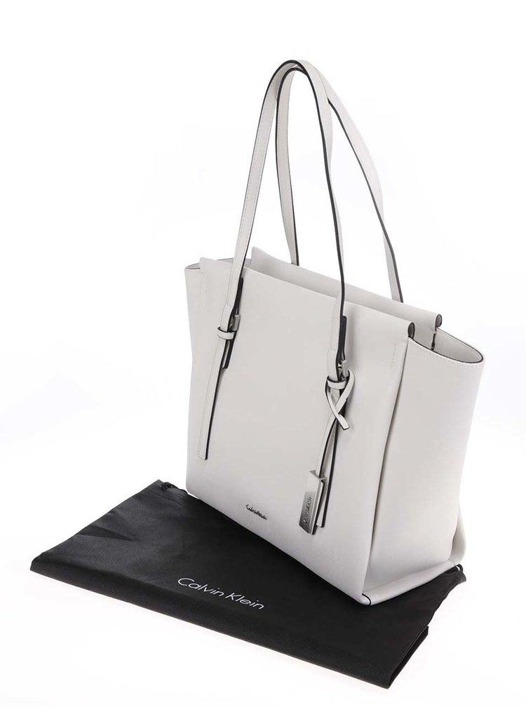 Krémový shopper Calvin Klein Jeans Marissa