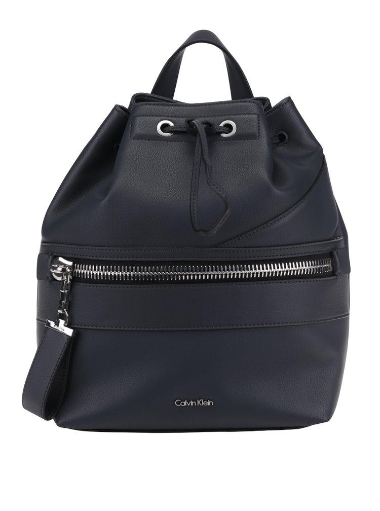 Tmavě šedý dámský batoh s ozdobným zipem Calvin Klein Jeans Lucy