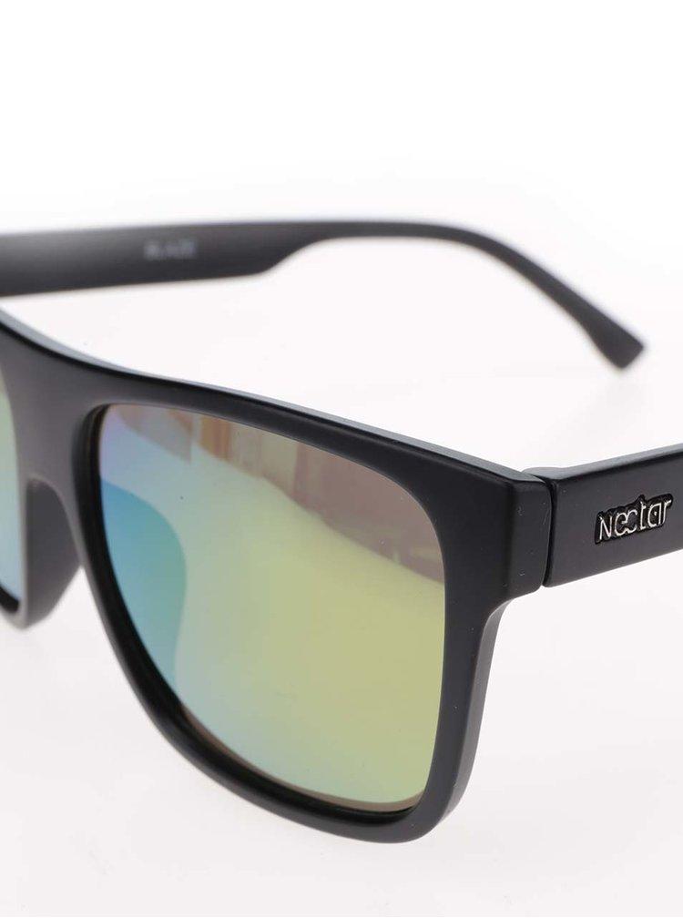 Černé pánské sluneční brýle se žlutými skly Nectar Highbro