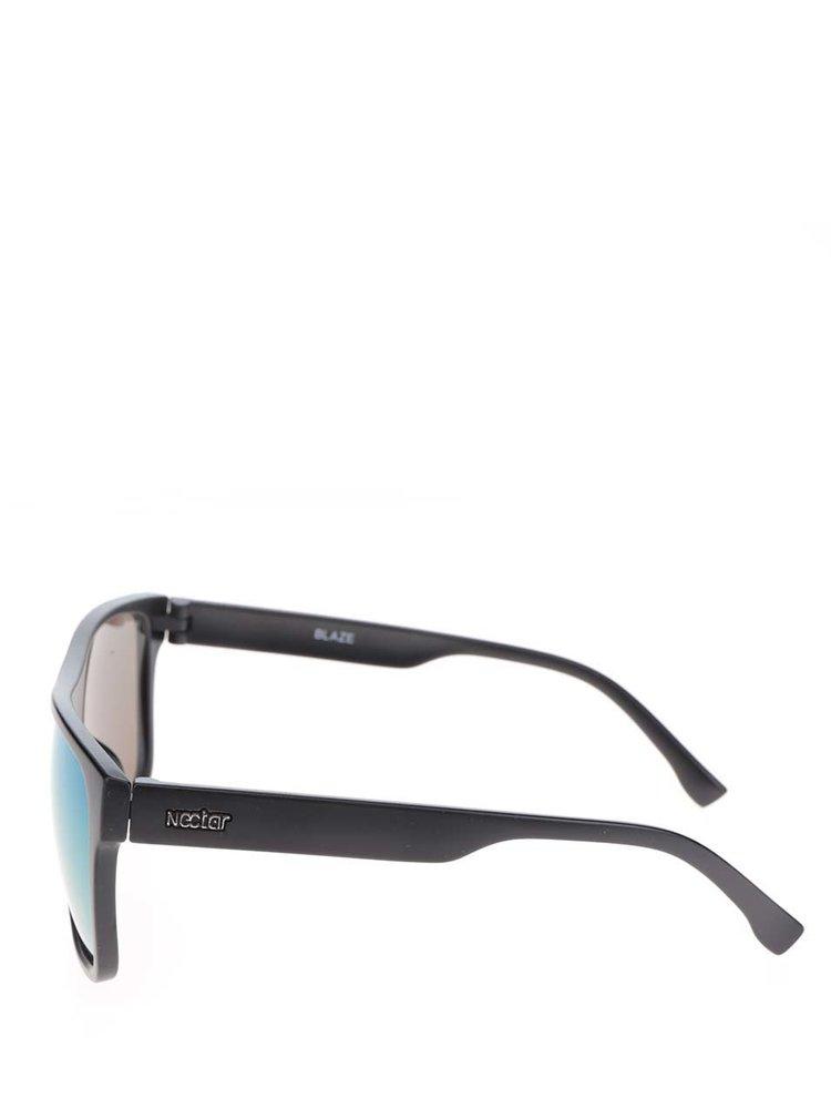 Ochelari de soare negri Nectar Highbro cu lentile galbene pentru bărbați