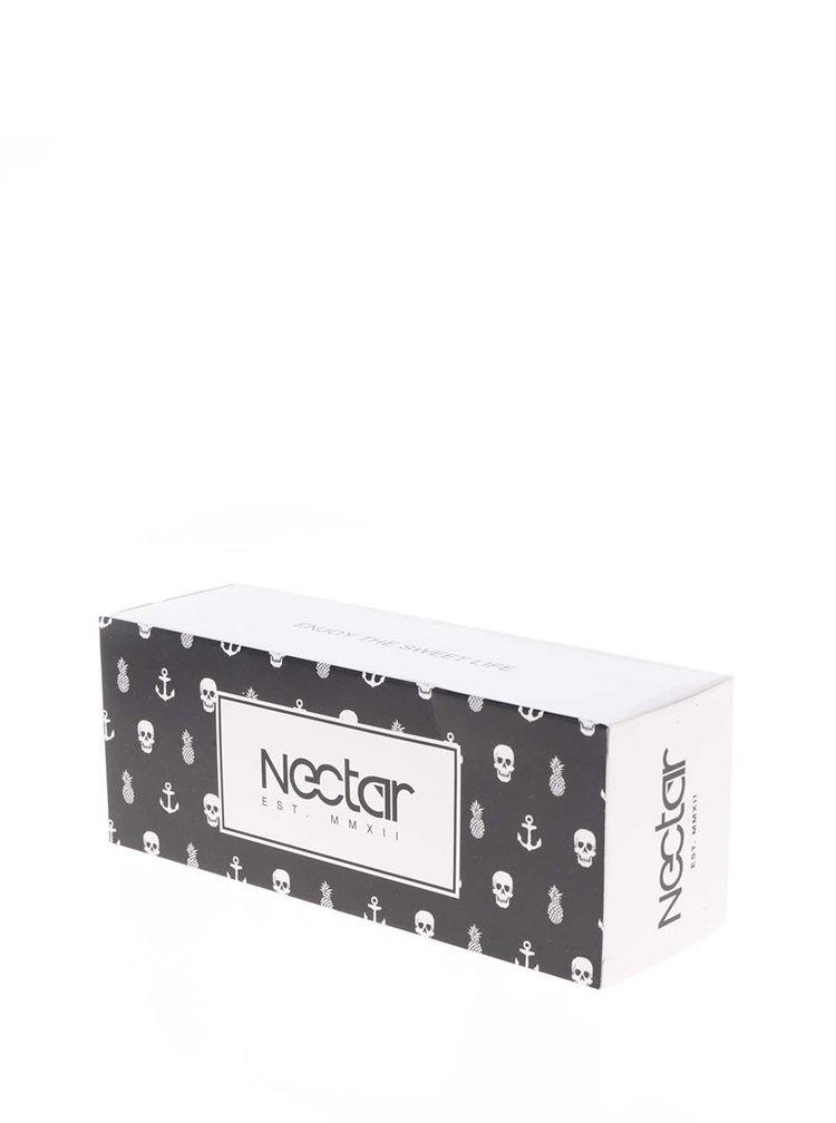 Ochelari de soare negri Nectar Highbro cu lentile gri pentru bărbați
