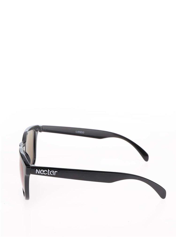 Černé pánské sluneční brýle s modrými skly Nectar Wayfarer