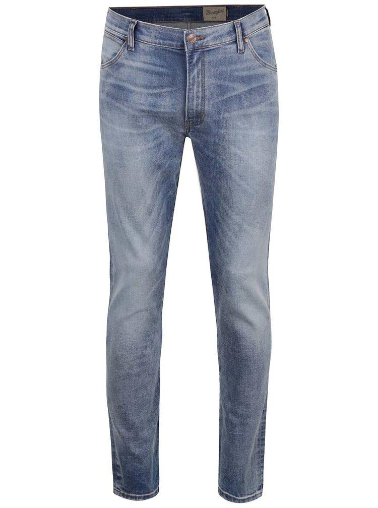 Světle modré pánské slim džíny s vyšisovaným efektem Wrangler Larston