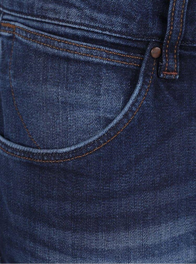 Blugi albastru închis Wrangler Larston cu aspect prespălat
