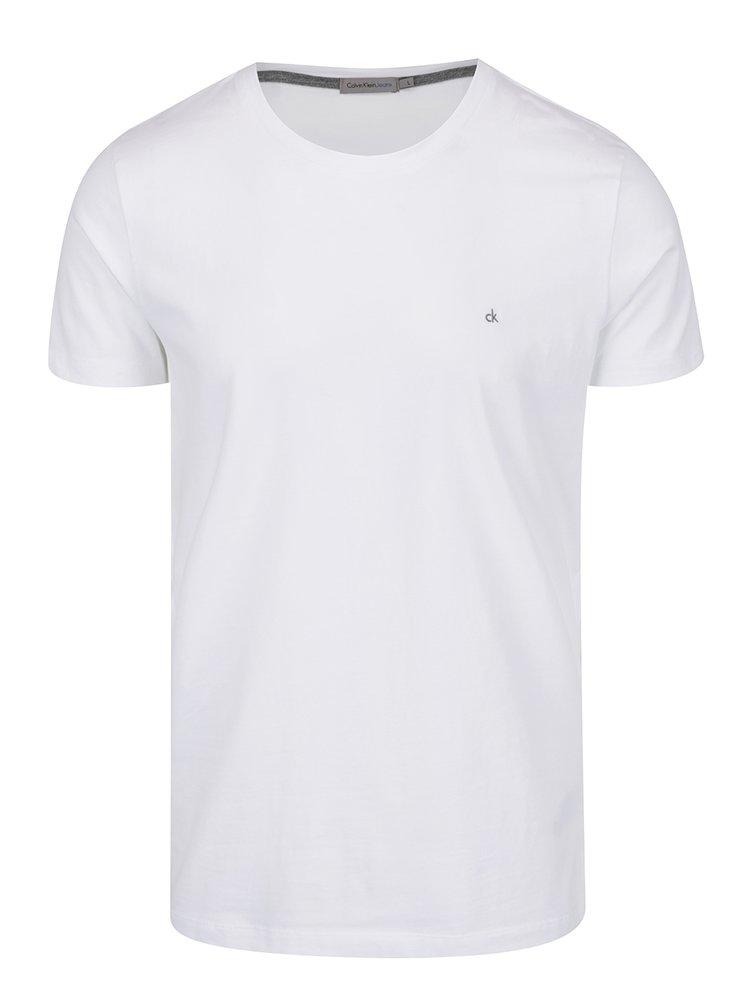 Bílé pánské triko s výšivkou loga Calvin Klein Jeans Bucky