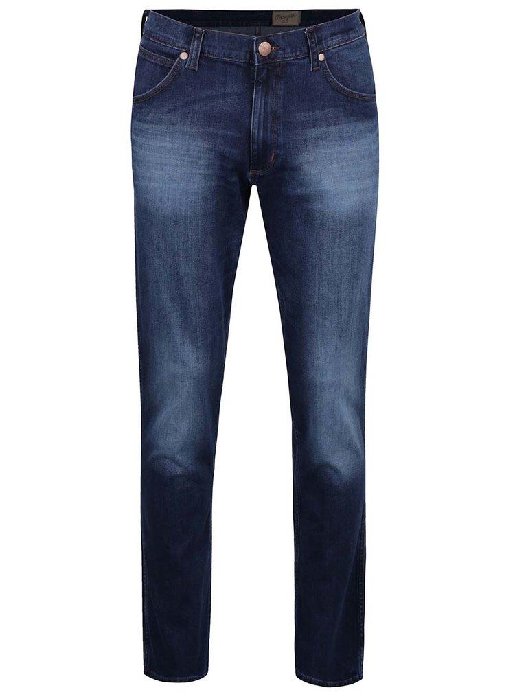 Tmavě modré pánské regular džíny s vyšisovaným efektem Wrangler Greensboro