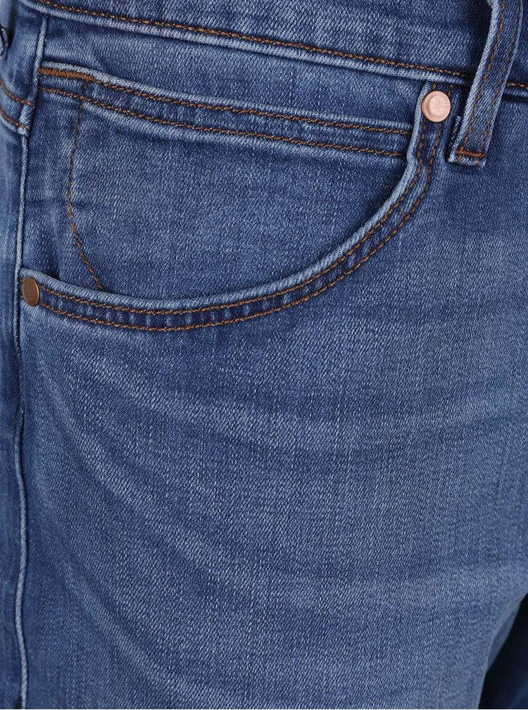 Blugi albastri Wrangler Greensboro cu aspect usor prespalat