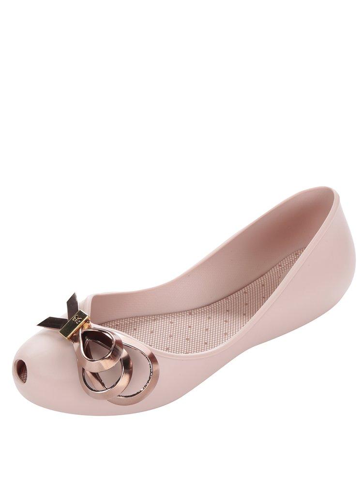 Balerini roz  Zaxy Luxury cu fundă decorativă