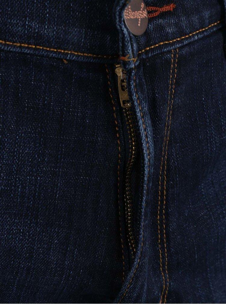 Blugi albastru închis Wrangler Greensboro cu aspect prespălat